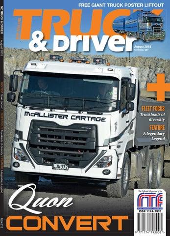 Nz Truck Driver August 2018 By Nz Truck Driver Issuu