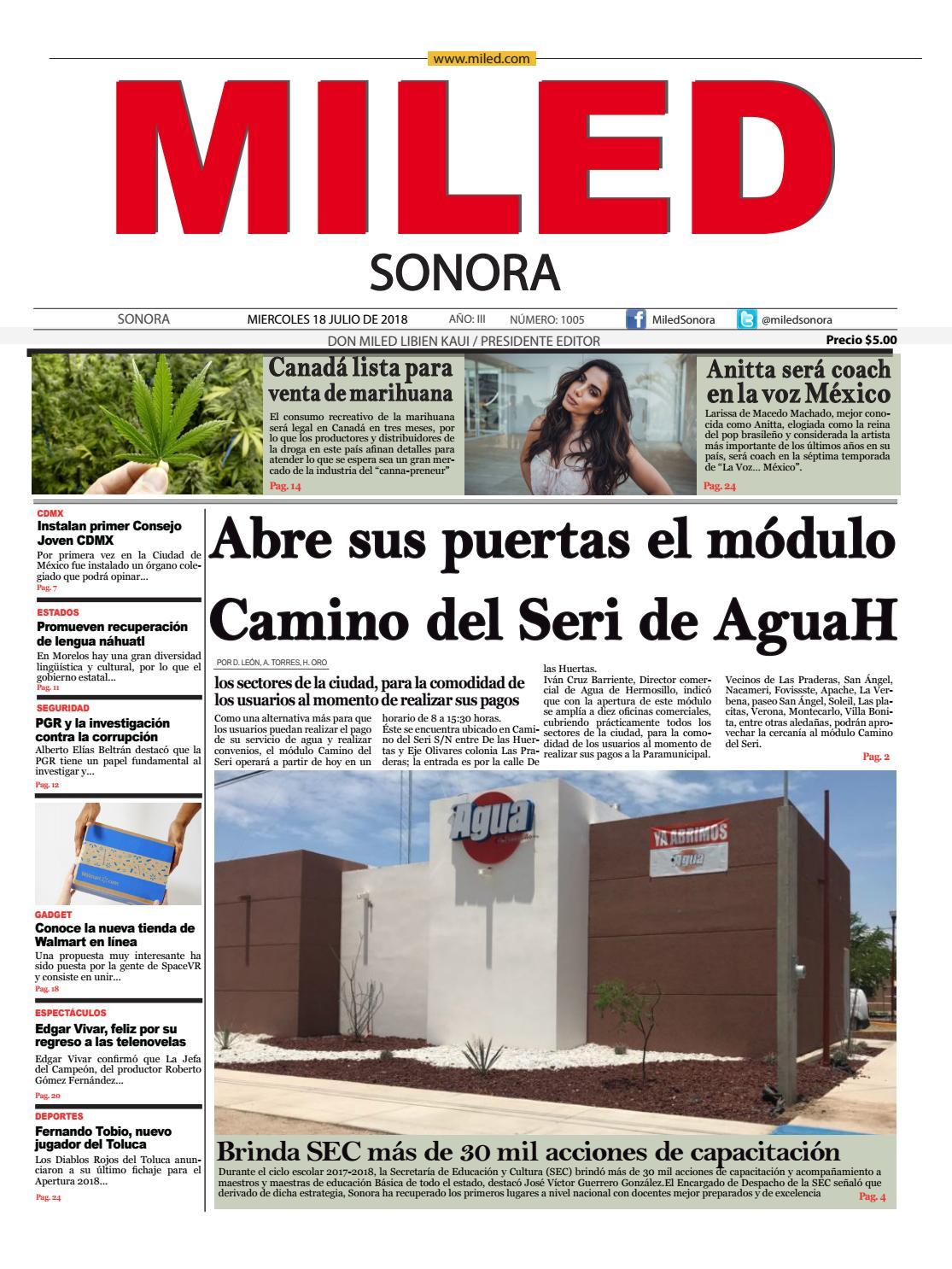 Miled Sonora 18_07_18 by Miled Estados - issuu