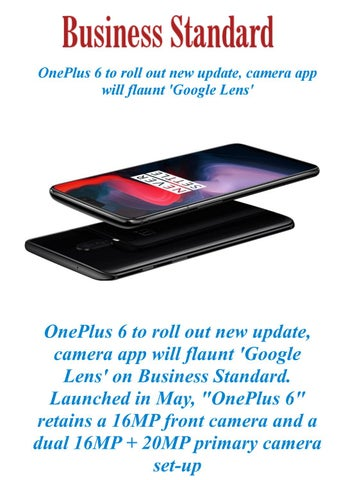 OnePlus 6 to roll out new update, camera app will flaunt