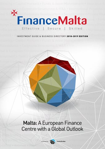 FinanceMalta Investment Guide and Business Directory 2018 by