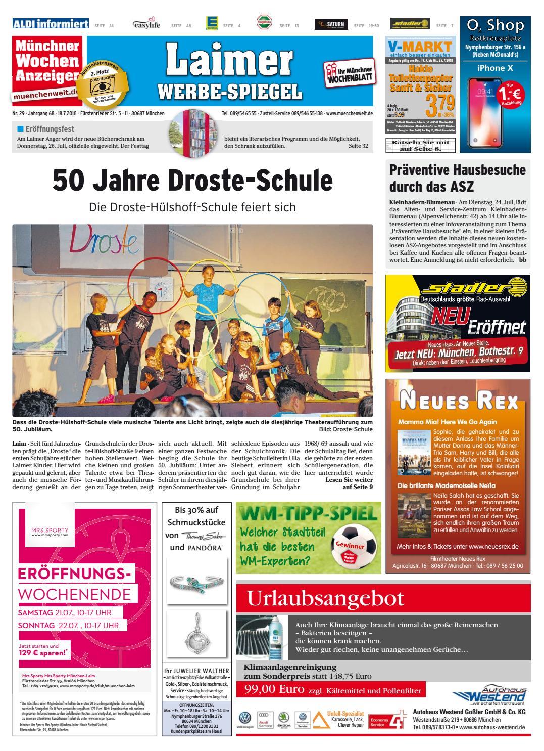 Kw 29 2018 By Wochenanzeiger Medien Gmbh Issuu
