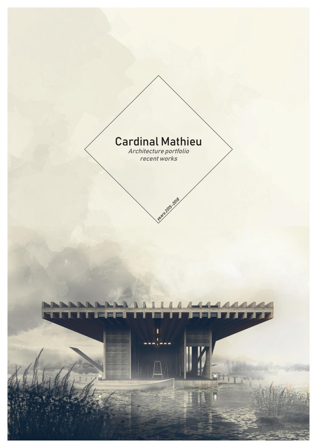 Portfolio Architecture Mathieu Cardinal By Mathieu