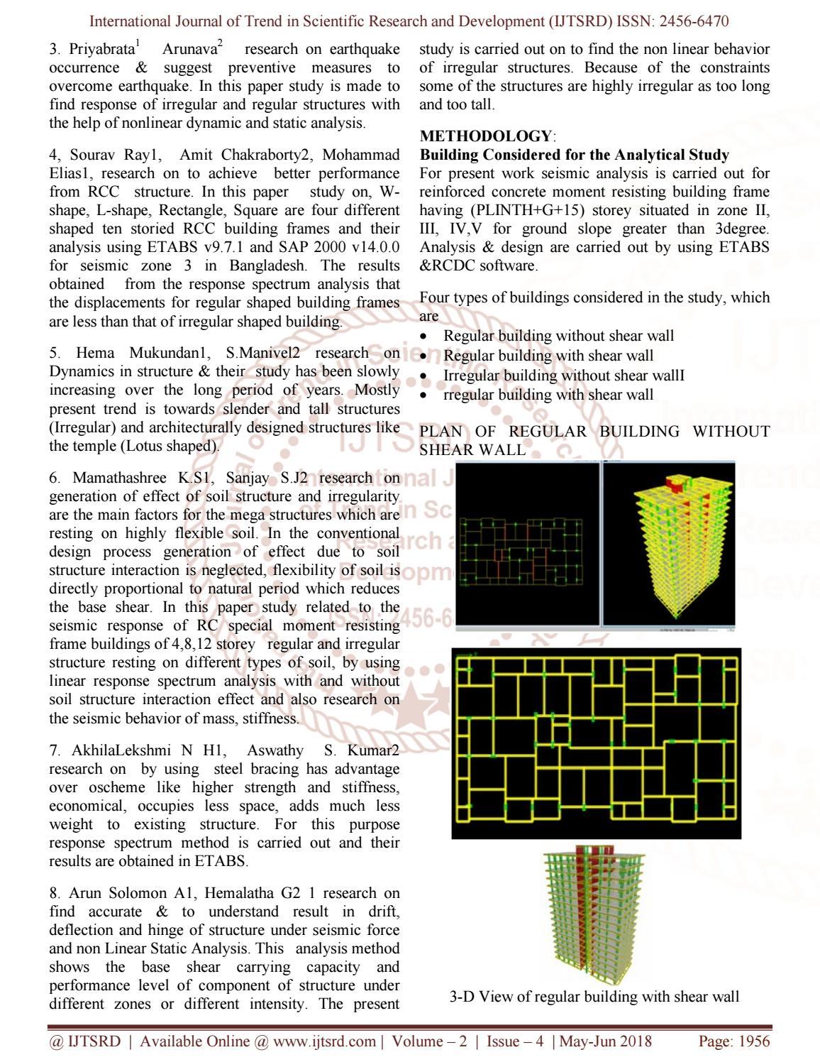Comparative Analysis & Design of Regular & Irregular