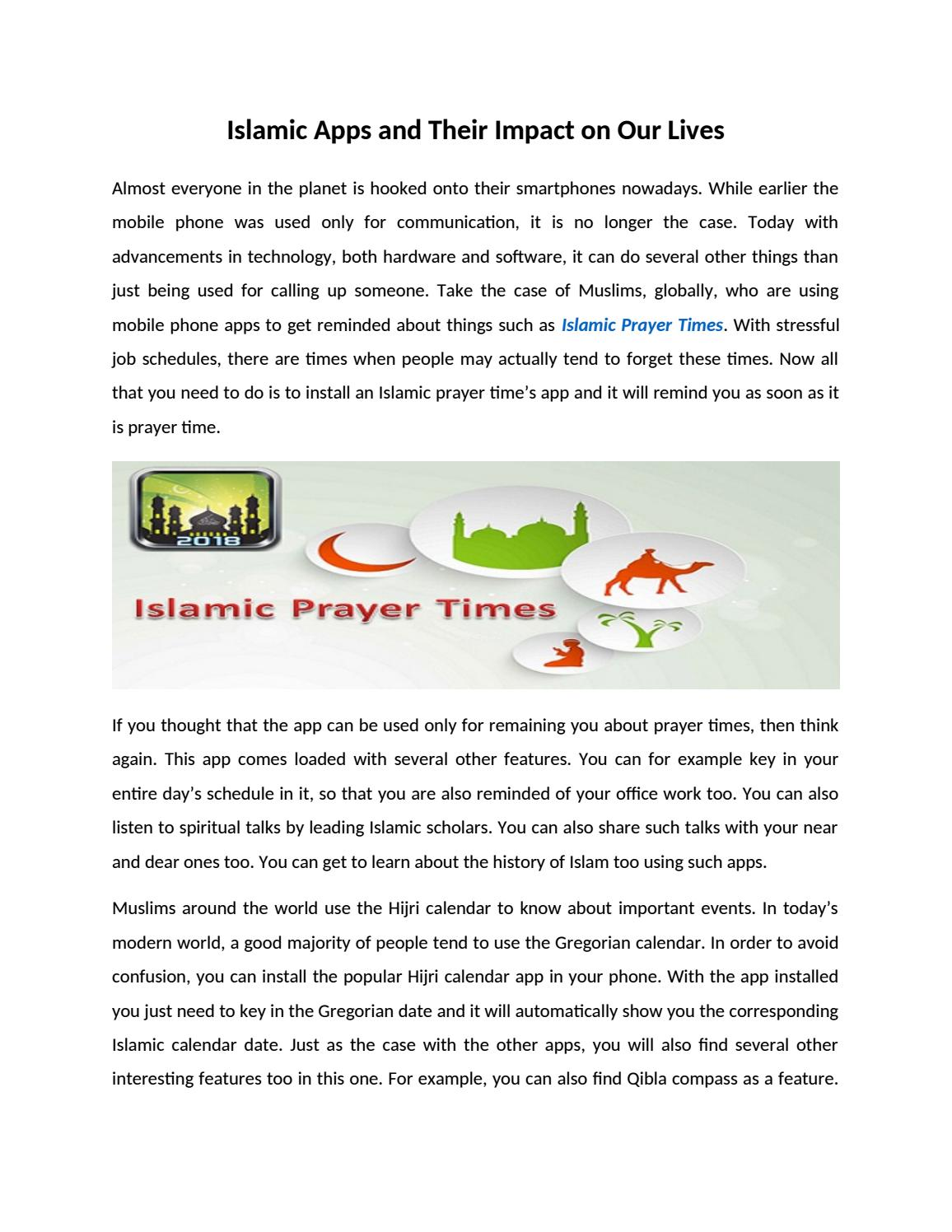 Islamic Apps and Their Impact on Our Lives by Javid Hassan