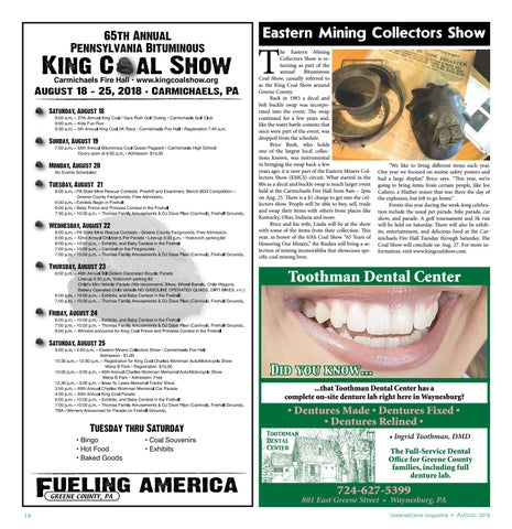 Page 14 of King Coal Schedule