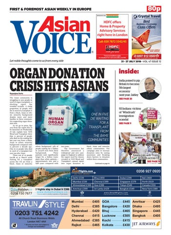 Asian Voice 21st July 2018 by Asian Business Publications Ltd - issuu
