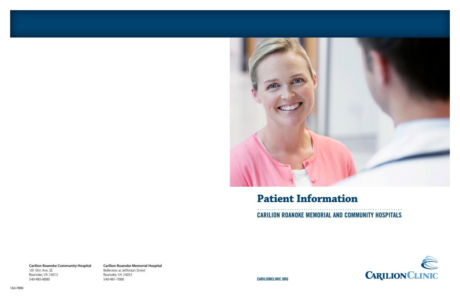 Patient Guide - Carilion Roanoke Memorial and Community