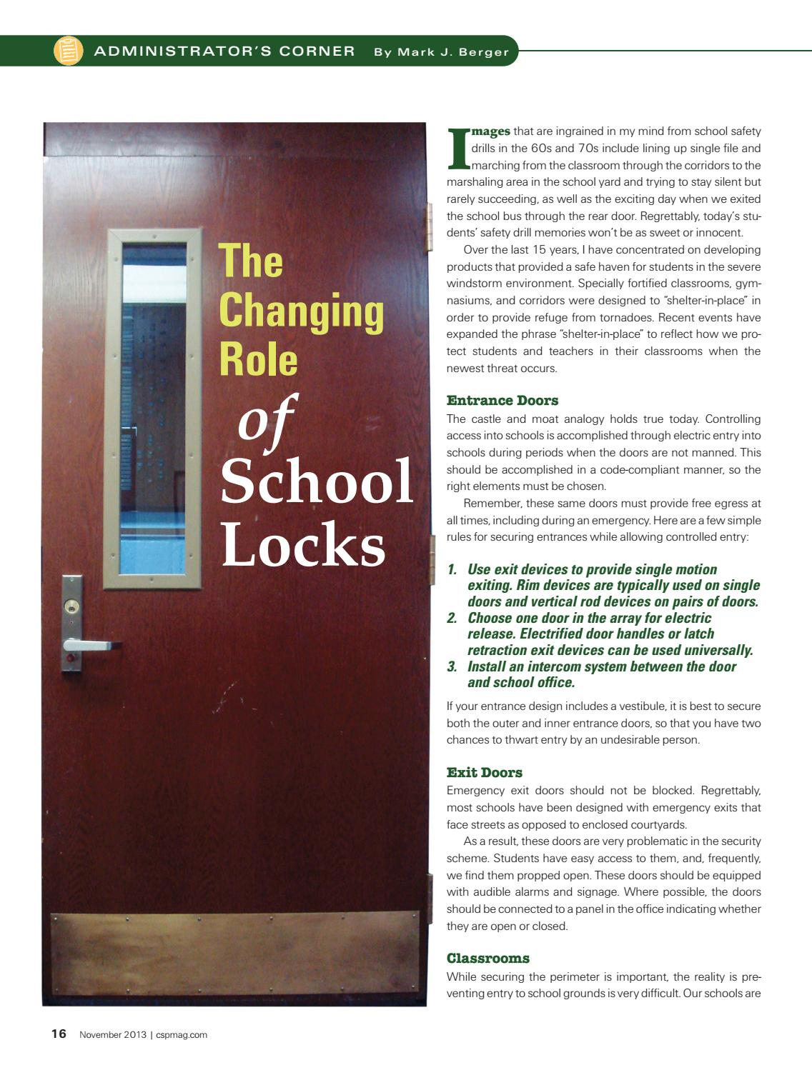 76cf74d0463f30 The Changing Role of School Locks by Securitech Group