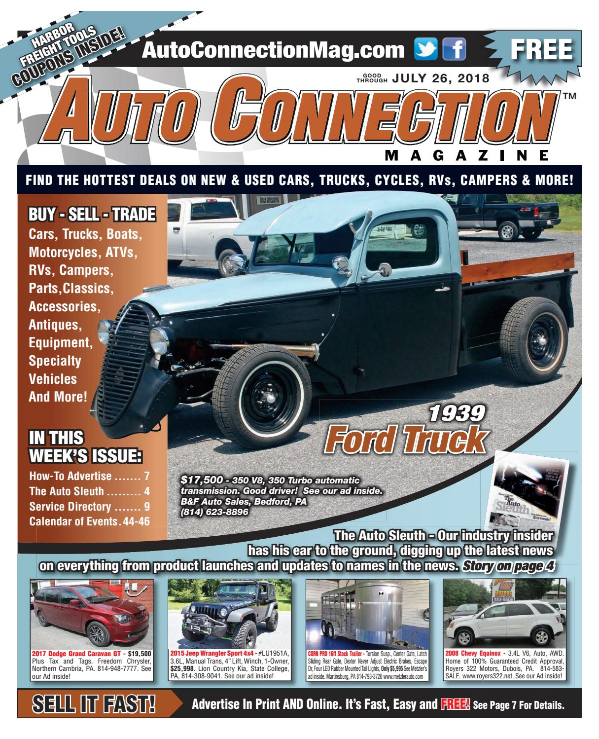 07 26 18 Auto Connection Magazine By Issuu 1942 Chevy Truck Vin Tag
