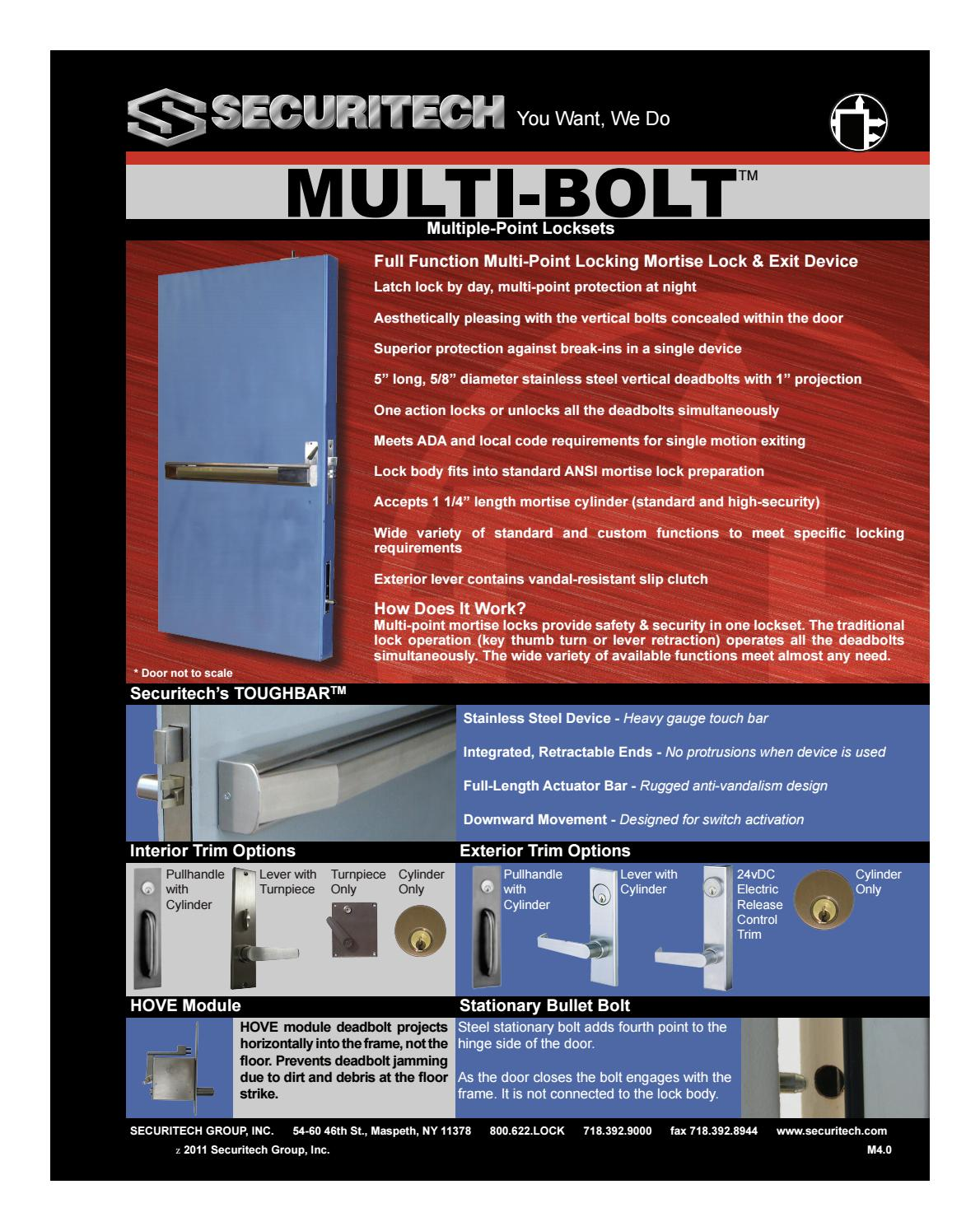 Multi-Bolt 7000 by Securitech Group, Inc  - issuu