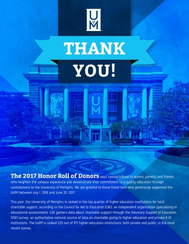 Online Honor Roll by University of Memphis - issuu