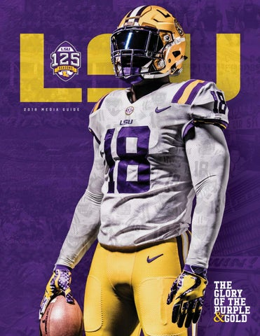 2018 lsu football media guide by Mexico Sports Collectibles