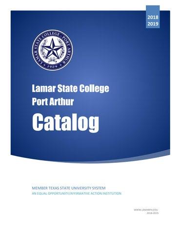 pretty nice fd637 b438c 2018-2019 Lamar State College Port Arthur Catalog by Gerry Dickert ...