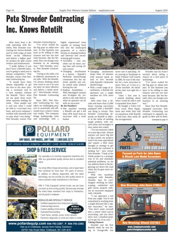 Page 14 of Pete Stroeder Contracting Inc. Knows Rototilt