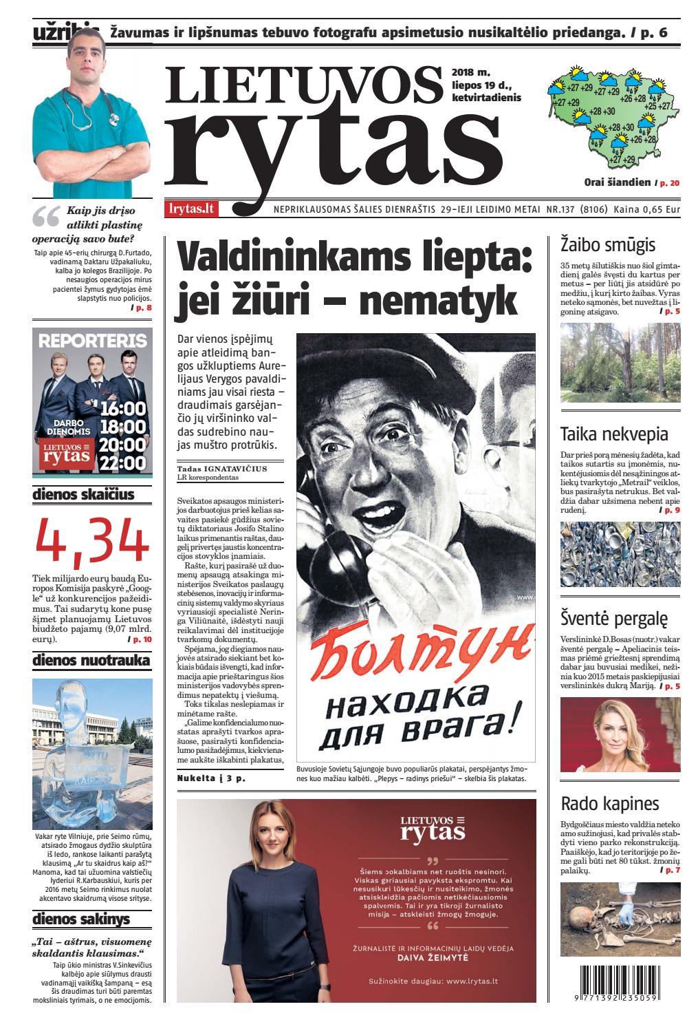 Lietuvos rytas by Lietuvos Rytas - Issuu