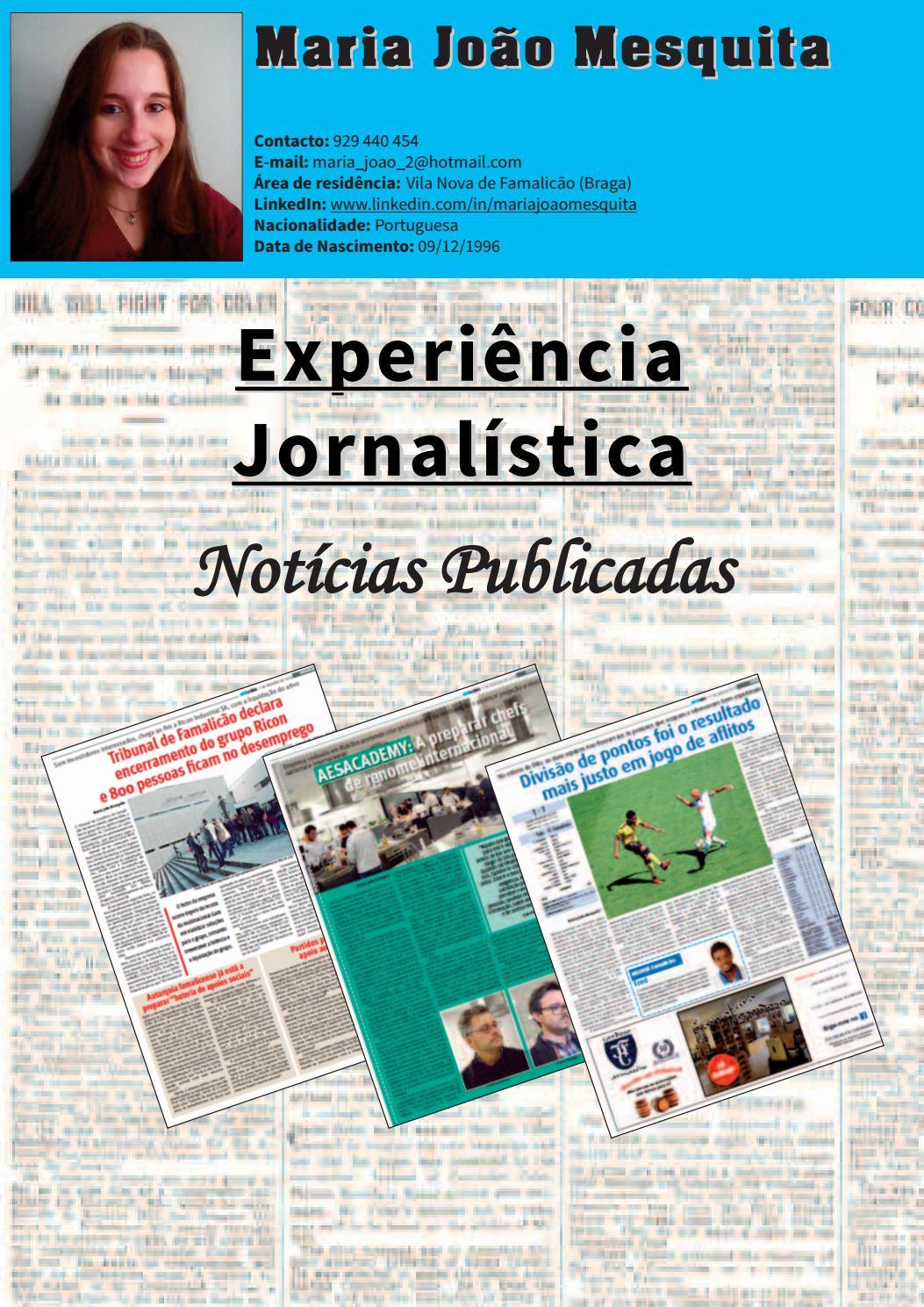 Noticias Publicadas Maria Joao by Maria João Mesquita - issuu bae4b57b3d0