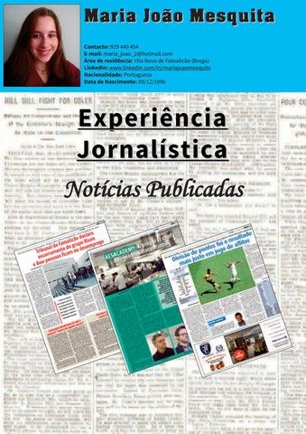 7bcf429e0c Noticias Publicadas Maria Joao by Maria João Mesquita - issuu