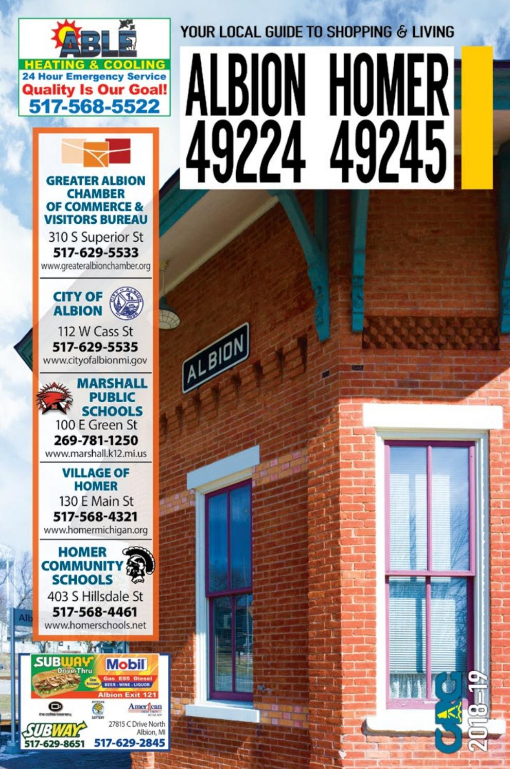 Total Local 2018-19 Albion-Homer MI Community Resource Guide by ...