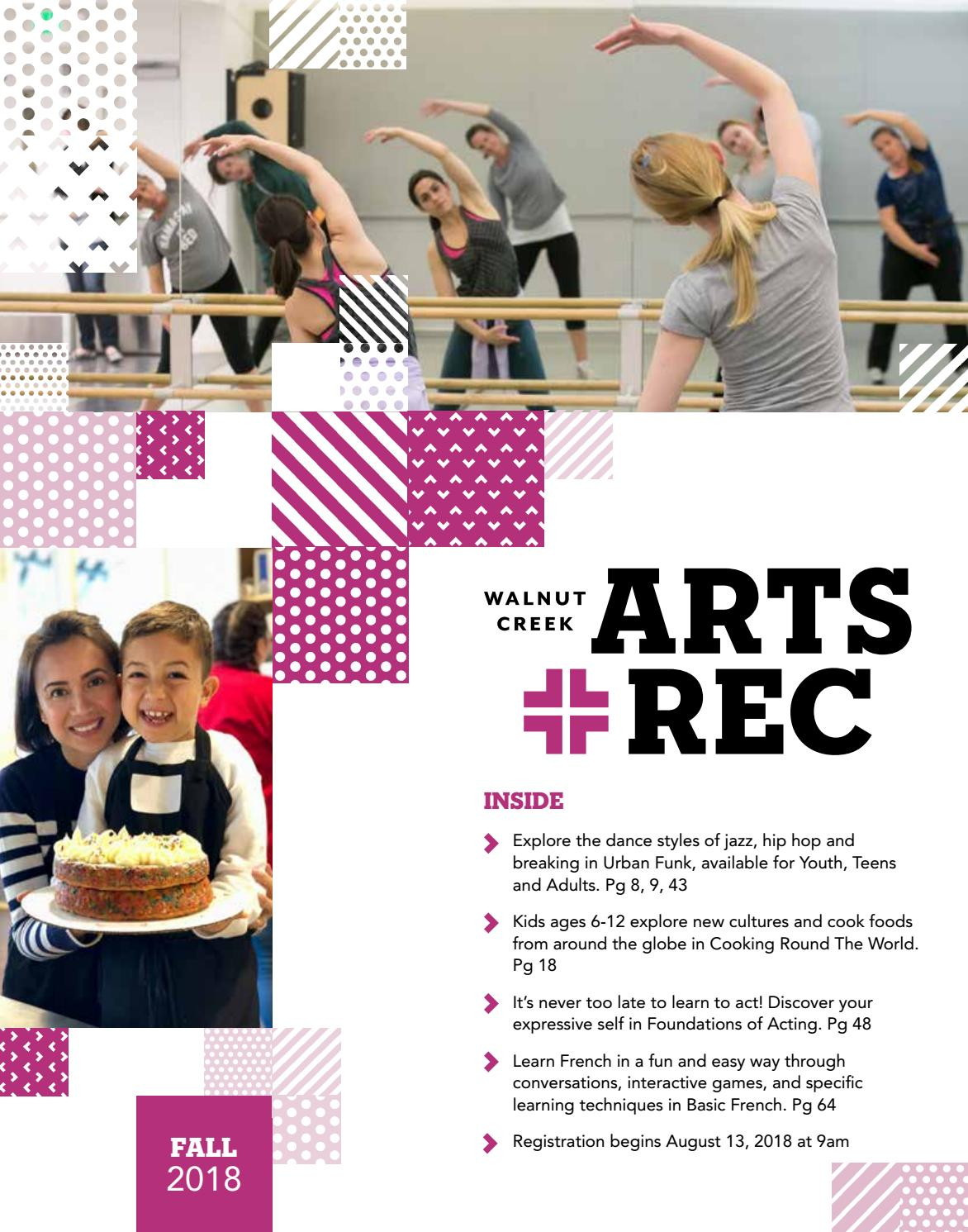 0e487ed336 City of Walnut Creek Guide to Arts + Rec - Fall 2018 by City of Walnut  Creek - issuu