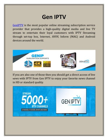 Best iptv subscription - Gen IPTV by GEN IPTV - issuu