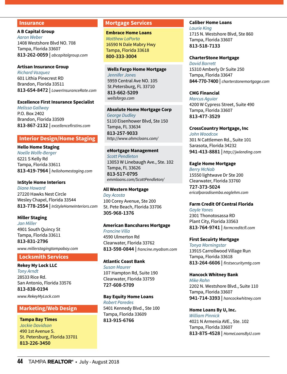 Tampa Realtor Magazine July August 2018 By Greater Tampa Realtors