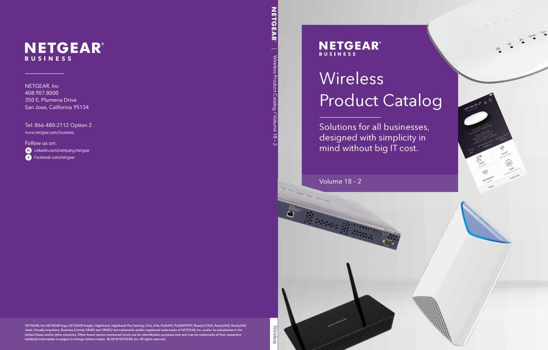 NETGEAR Wireless Product Catalogue 2018 July by