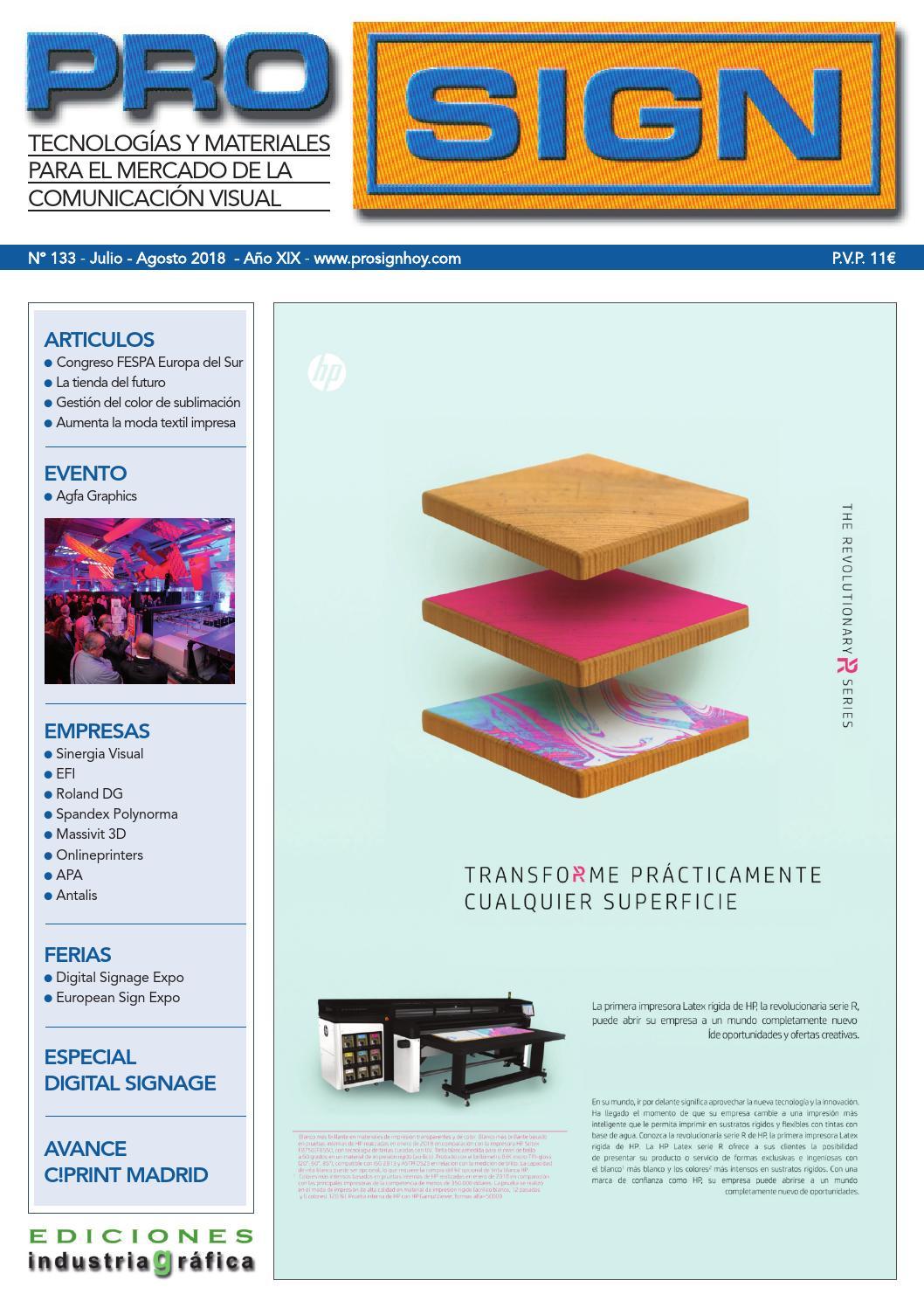 dea28f657 Prosign 133 - Julio / Agosto 2018 by Ediciones Industria Gráfica - issuu
