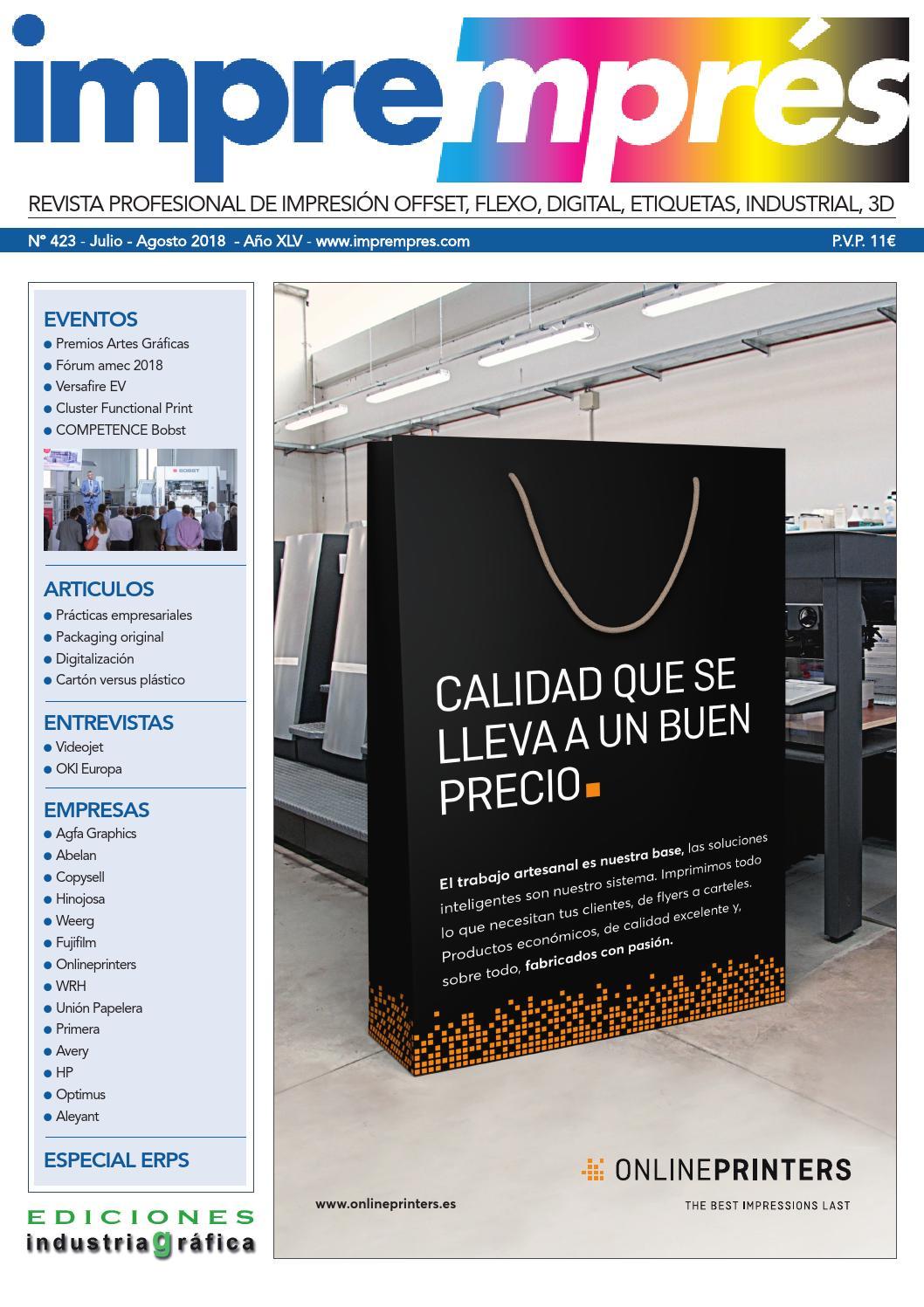 4e0de229b Impremprés 423 - Julio / Agosto 2018 by Ediciones Industria Gráfica - issuu