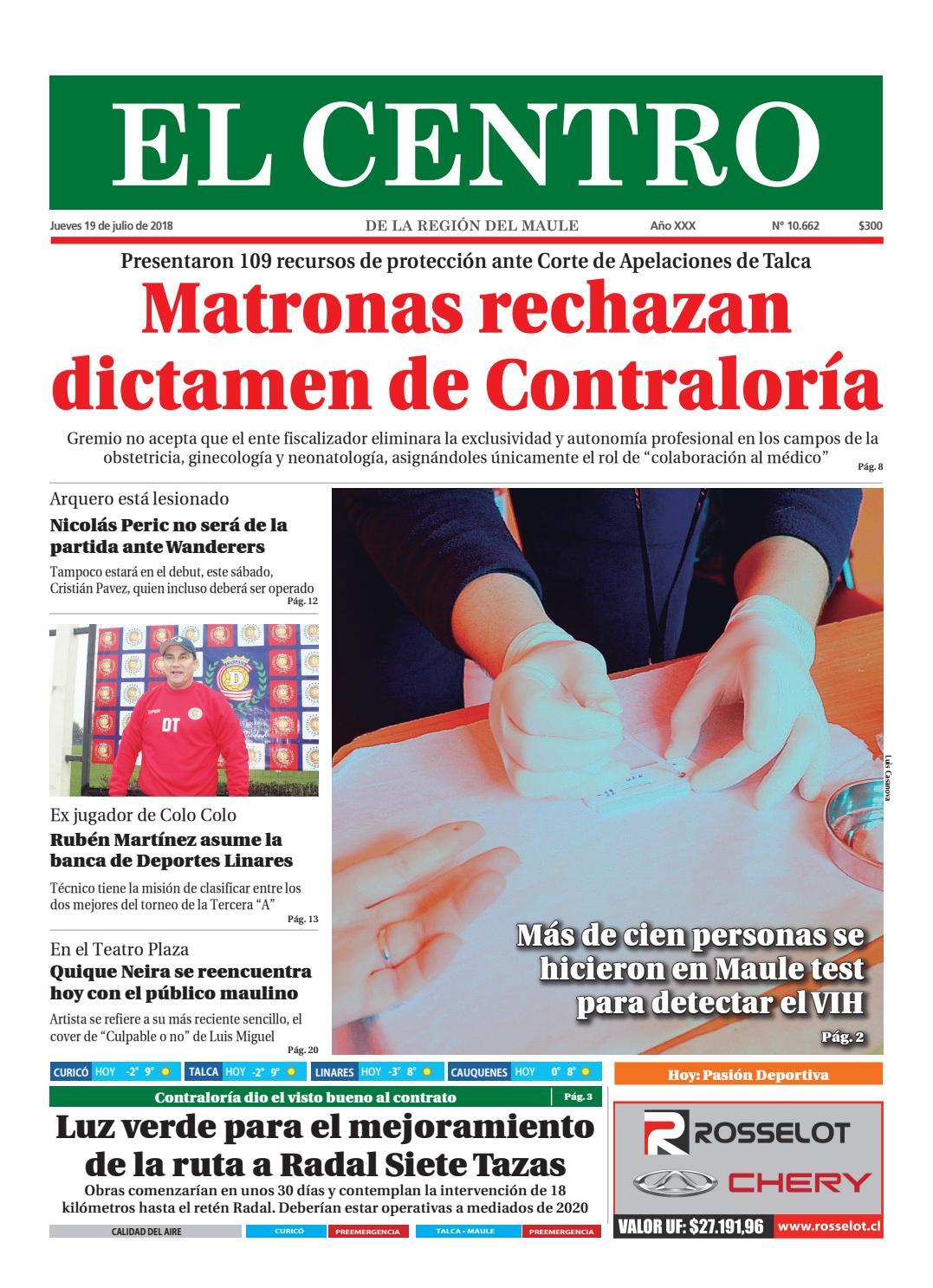Camara Oculta Porno Ginecologia diario19-07-2018diario el centro s.a - issuu