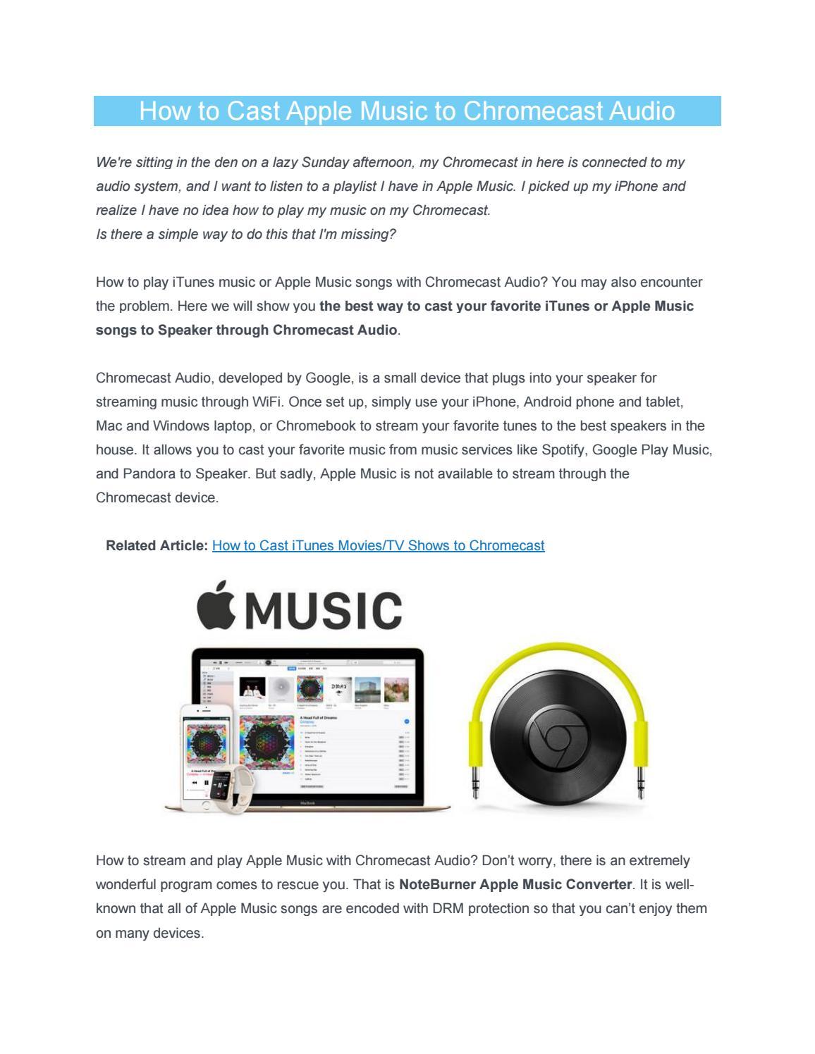 How to Cast Apple Music to Chromecast Audio by Joe Gromny