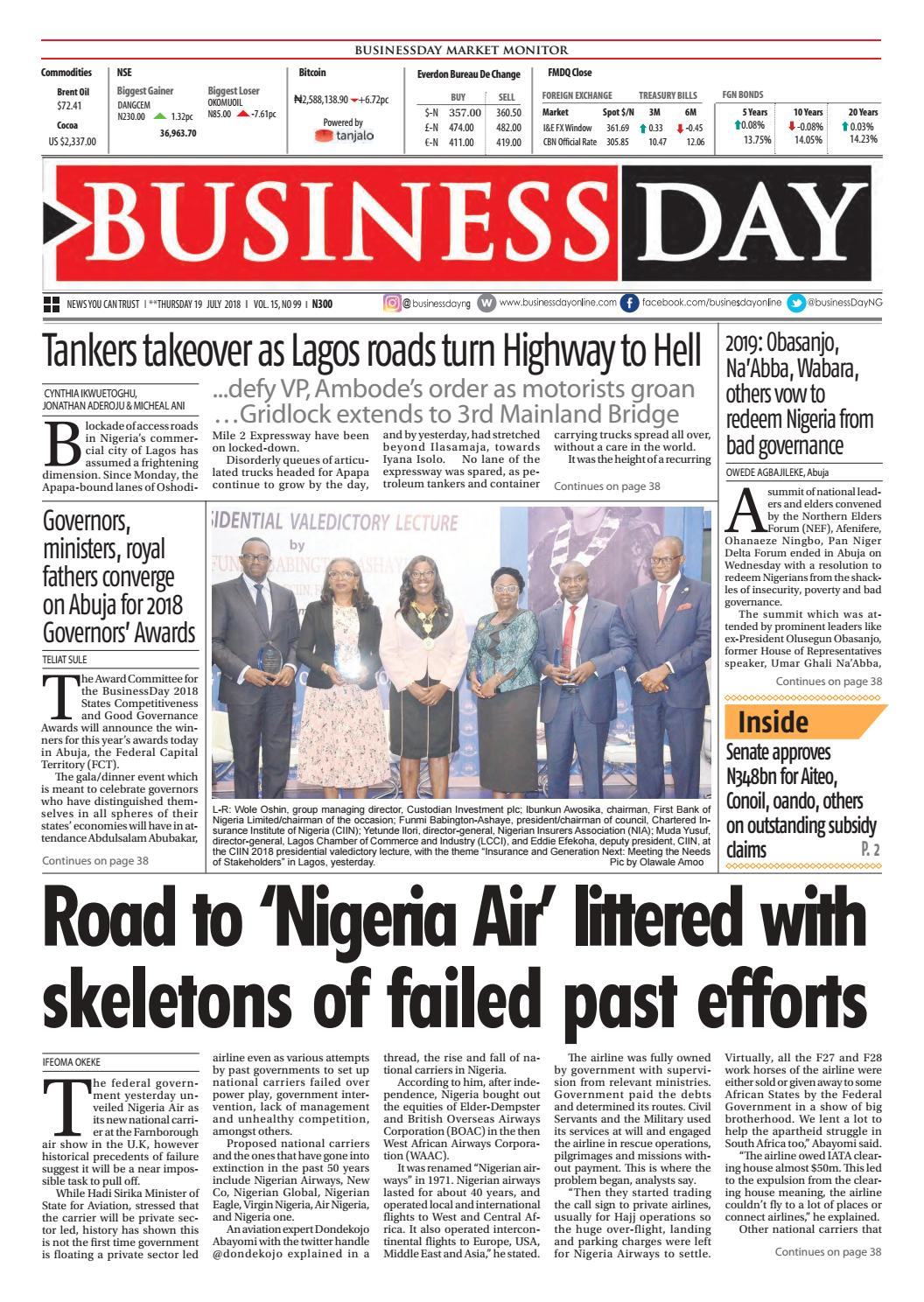 BusinessDay 19 Jul 2018 by BusinessDay - issuu