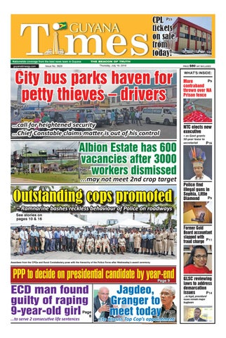 Guyana Times -- Thursday, July 19, 2018 by Gytimes - issuu