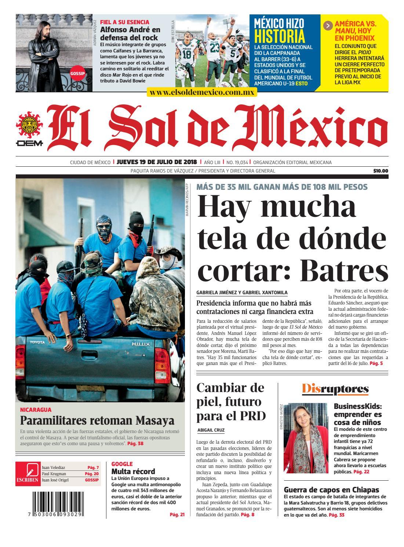 El Sol de México 19 de julio de 2018 by El Sol de México - issuu dc26c39d42b26