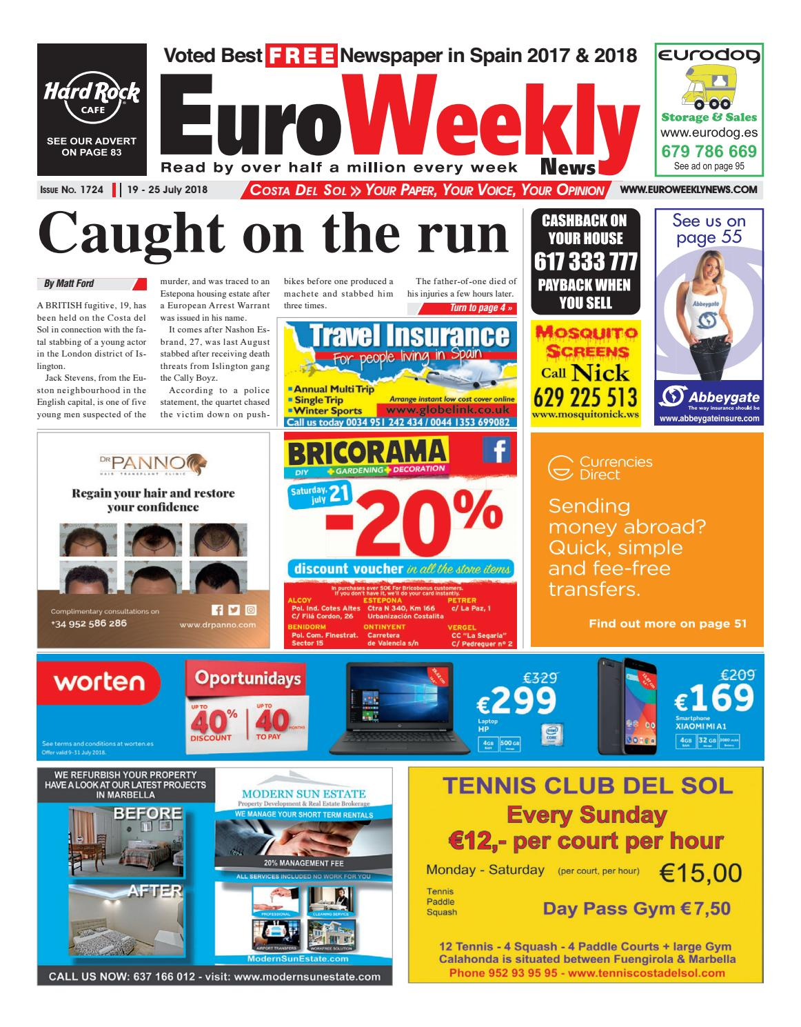 9efaaf0ebd20 Euro Weekly News - Costa del Sol 19 - 25 July 2018 Issue 1724 by ...