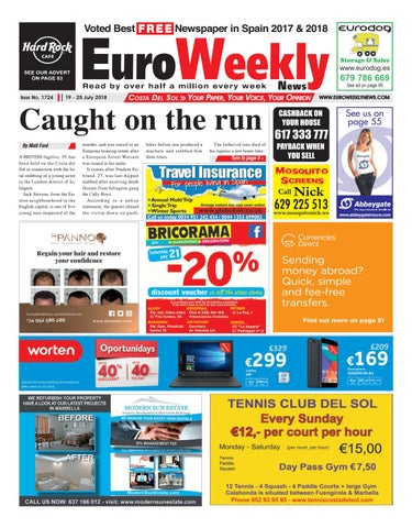 4340cfe725 Euro Weekly News - Costa del Sol 19 - 25 July 2018 Issue 1724