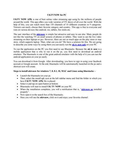 UKTVNOW for PC by ssurana162 - issuu