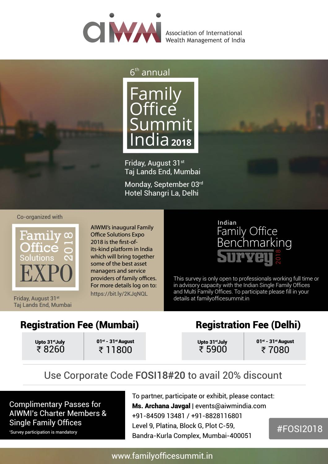 Family Office MAgazine Summer 2018 Issue by Family Office