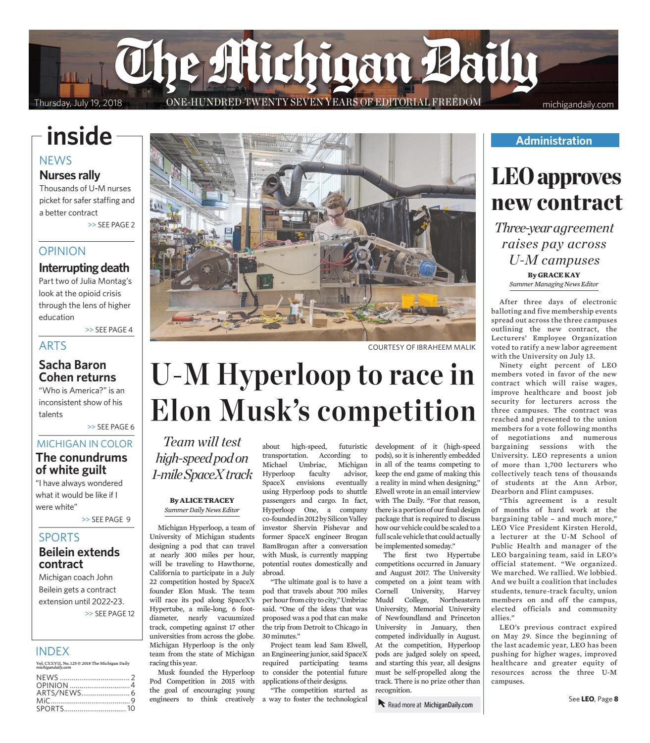 7 19 2018 By The Michigan Daily Issuu
