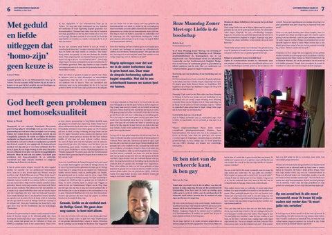 Page 4 of Gayformatorisch Dagblad | Roze Maandag | p. 6 en 7