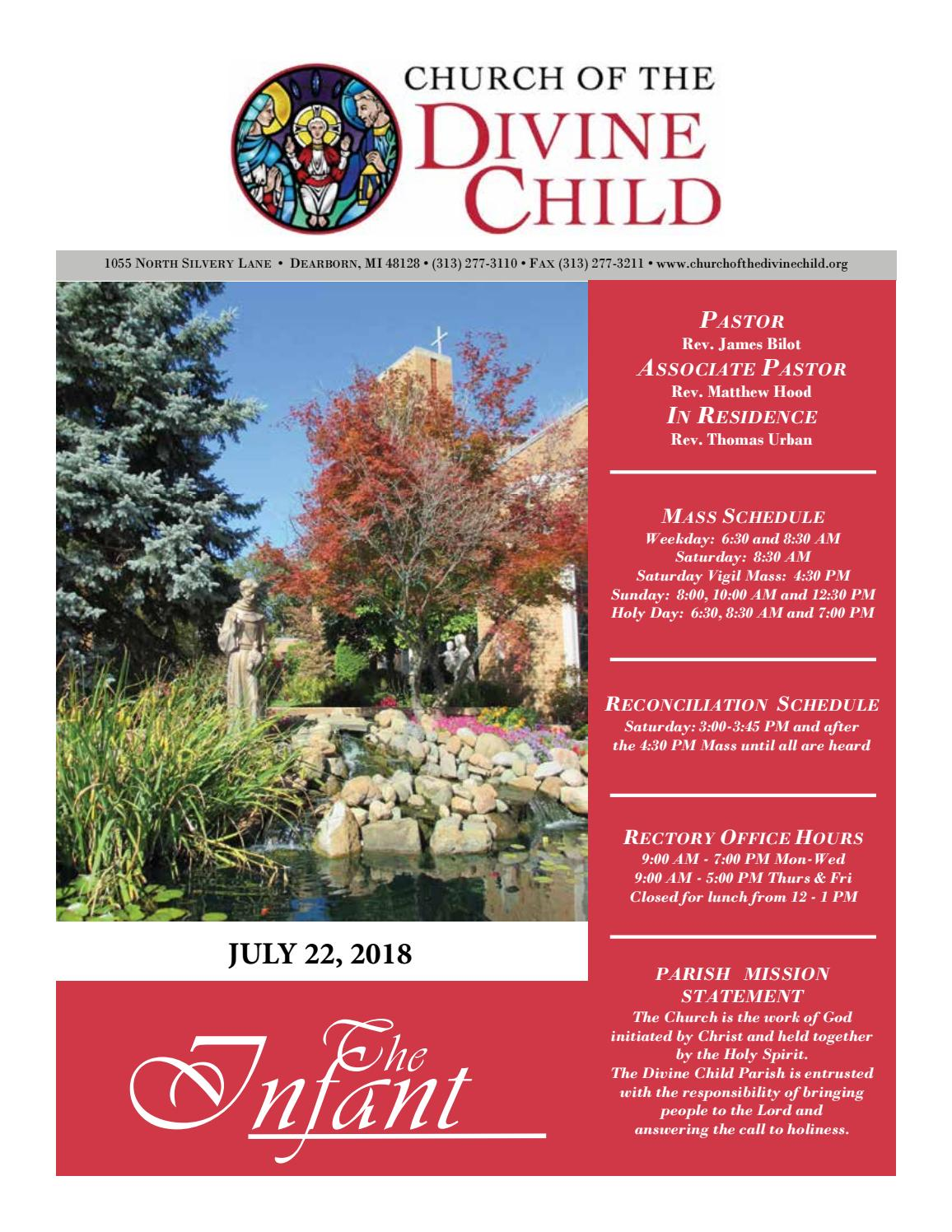 July 22 2018 By Church Of The Divine Child Issuu