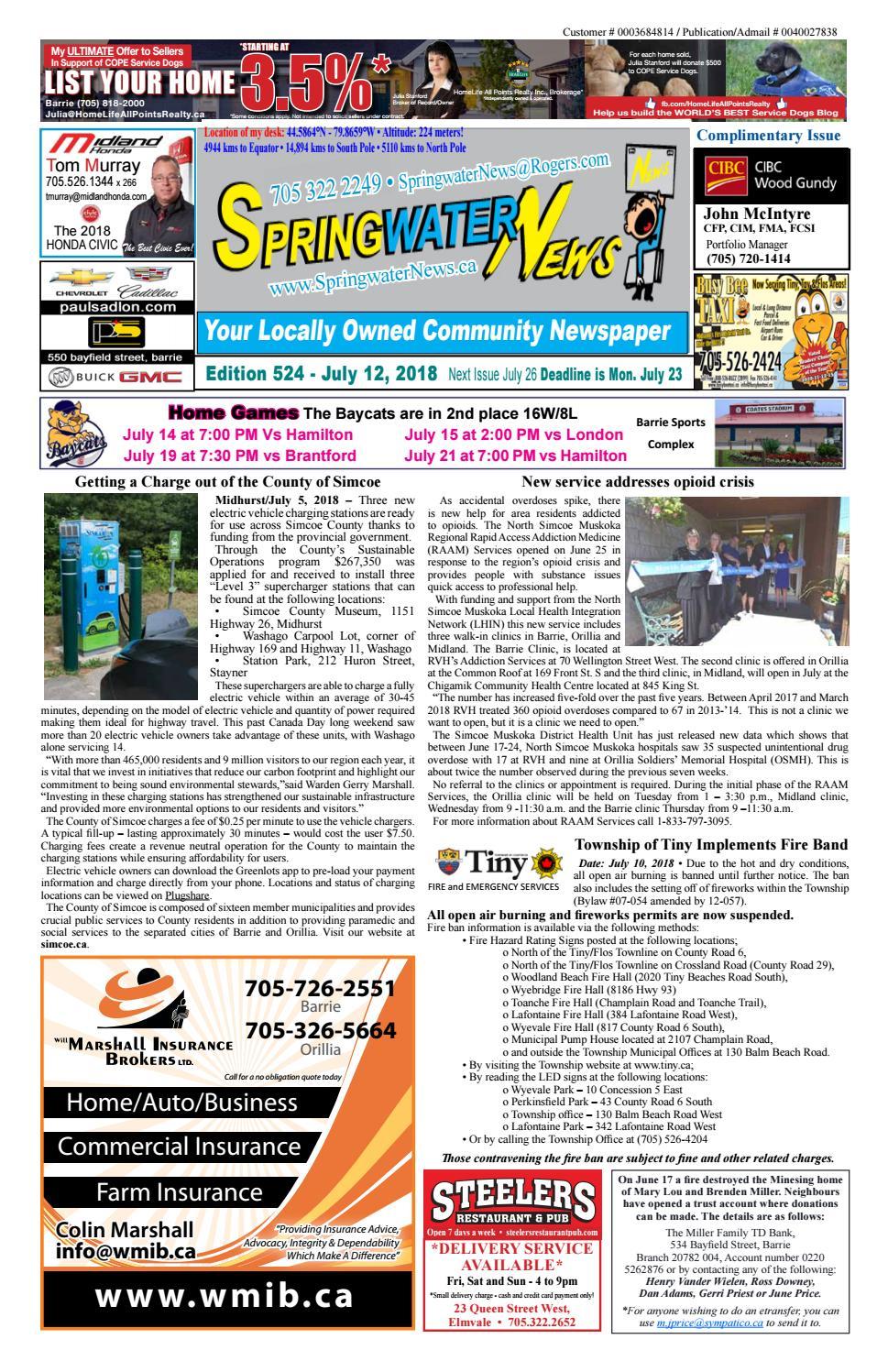 35cdf7f9dff Springwater News by Springwater News - issuu