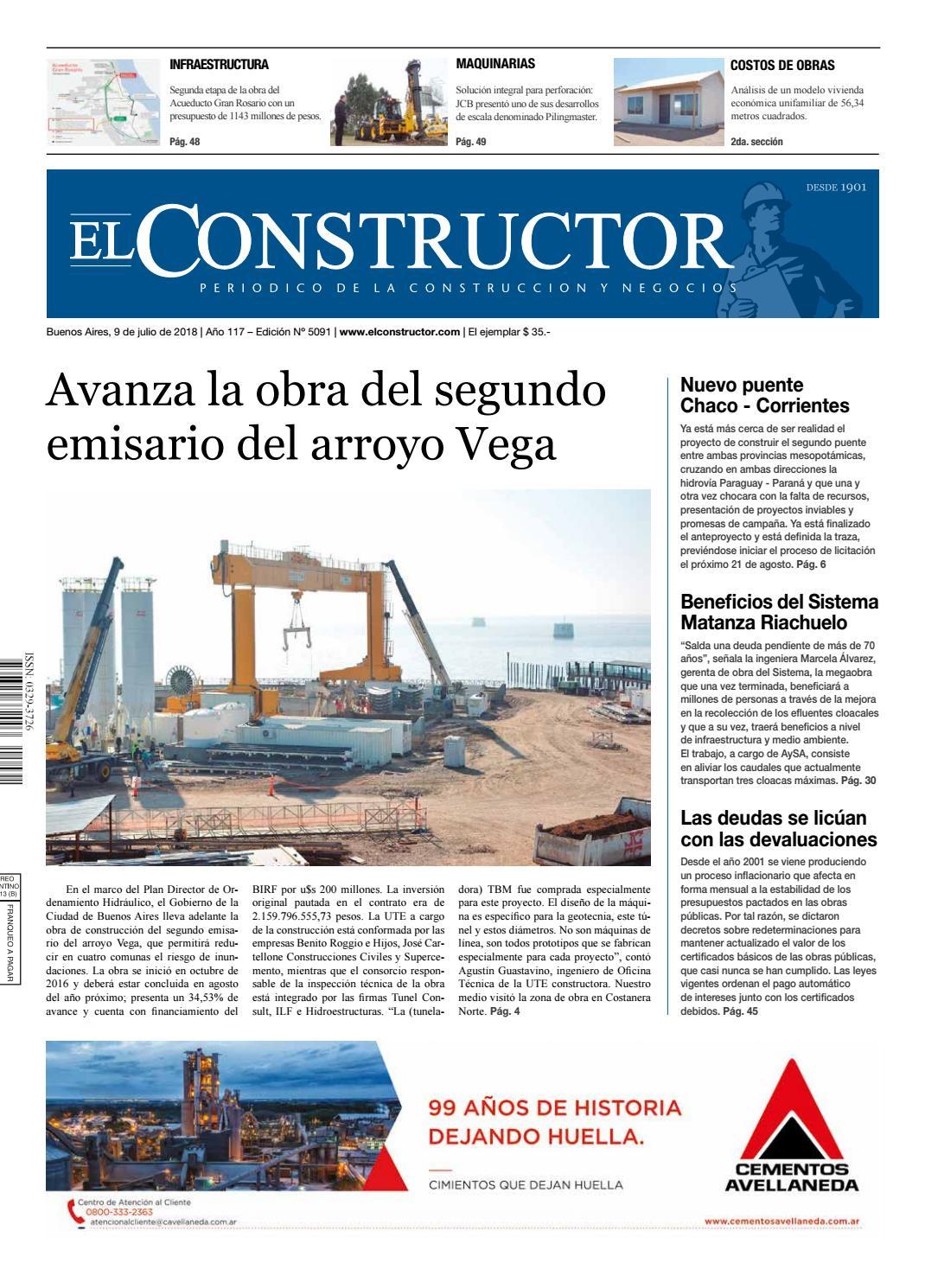 El Constructor 9/7/2018 - N° 5091 Año 117 by ELCO Editores - issuu