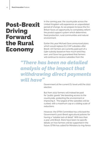 Page 4 of Post Brexit: Driving forward the Rural Economy