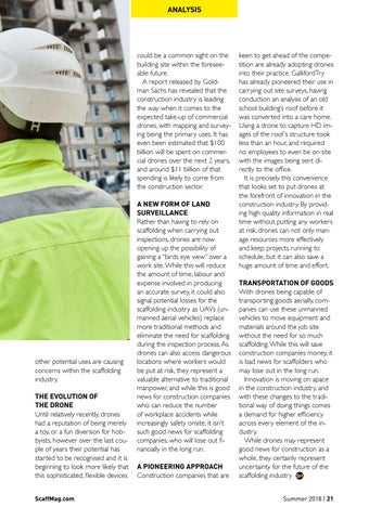 Page 21 of Drones - The Next Threat To The Scaffolding Industry?