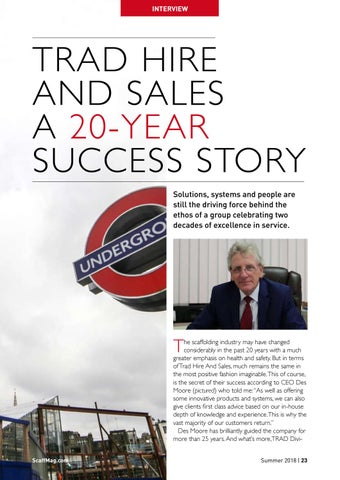 Page 23 of TRAD Hire & Sales A 20-Year Success Story