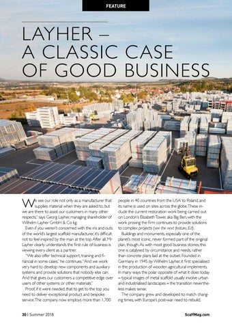 Page 30 of Layher - A classic case of good business