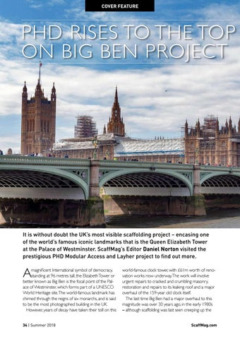 Page 34 of PHD Rises to the top on Big Ben project
