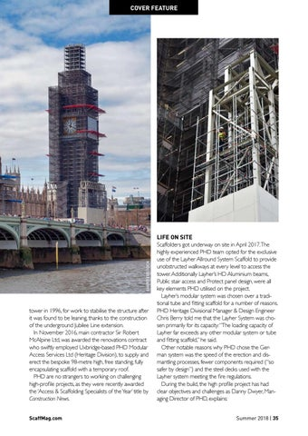 Page 35 of PHD Rises to the top on Big Ben project