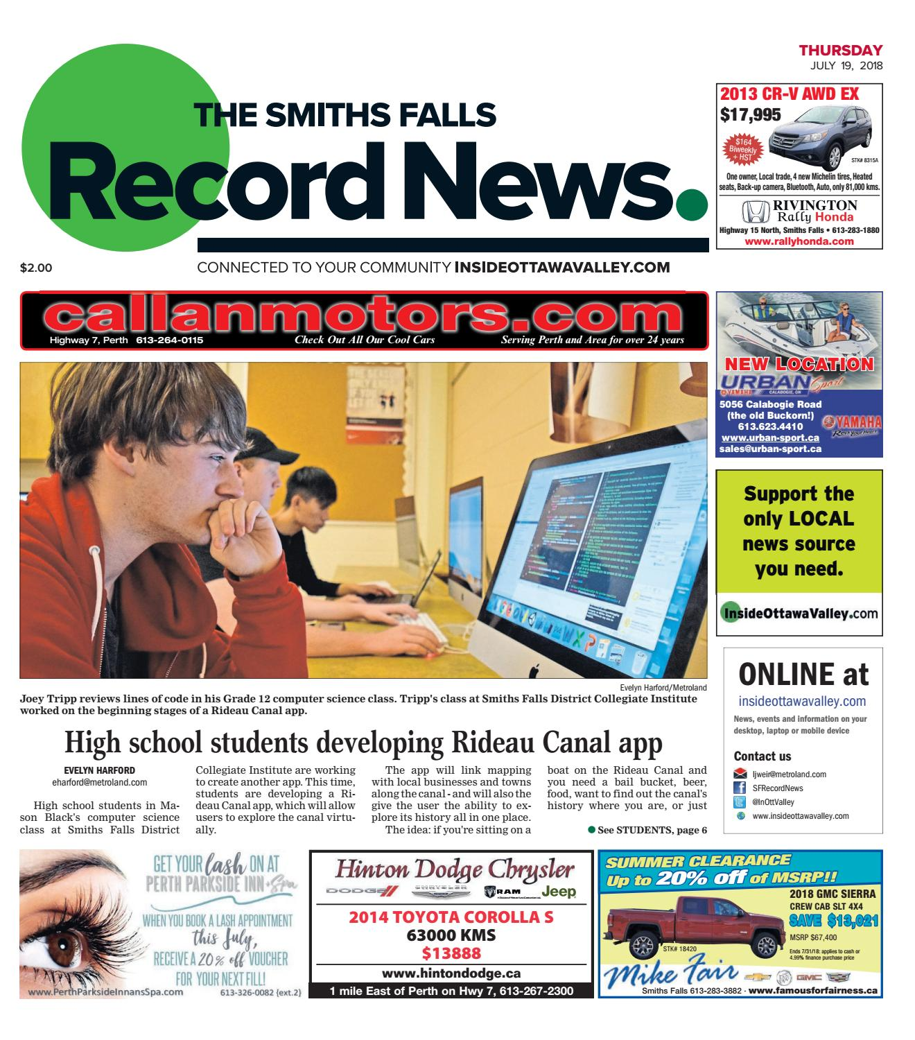 Otv S A 20180719 By Metroland East Smiths Falls Record News Issuu Ford Cmax Solar Energi Concept Using The Sun To Charge Electric Car