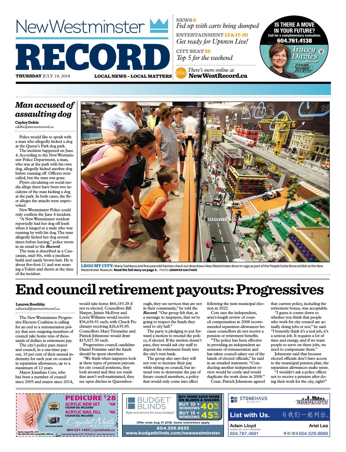 New Westminster Record July 19 2018 by Royal-City-Record - issuu